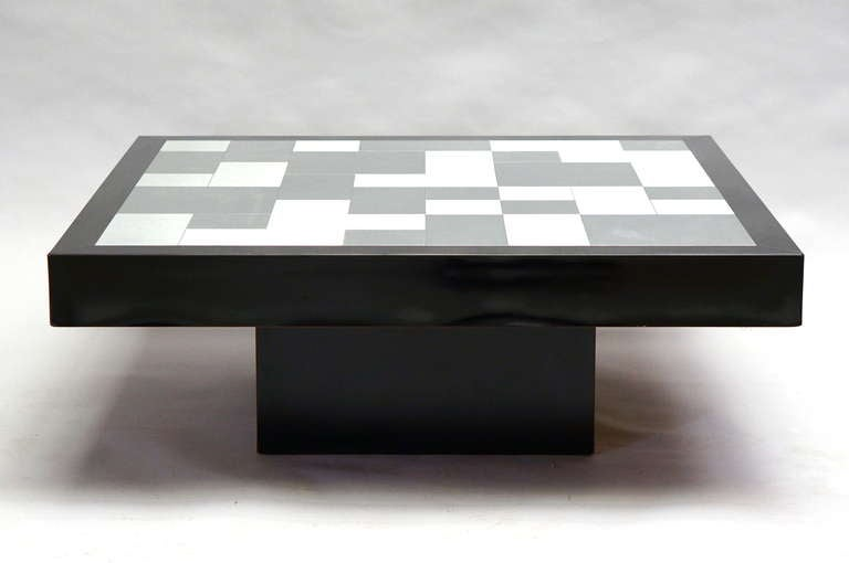 Mid-Century Modern Inox Coffee Table, circa 1970 For Sale