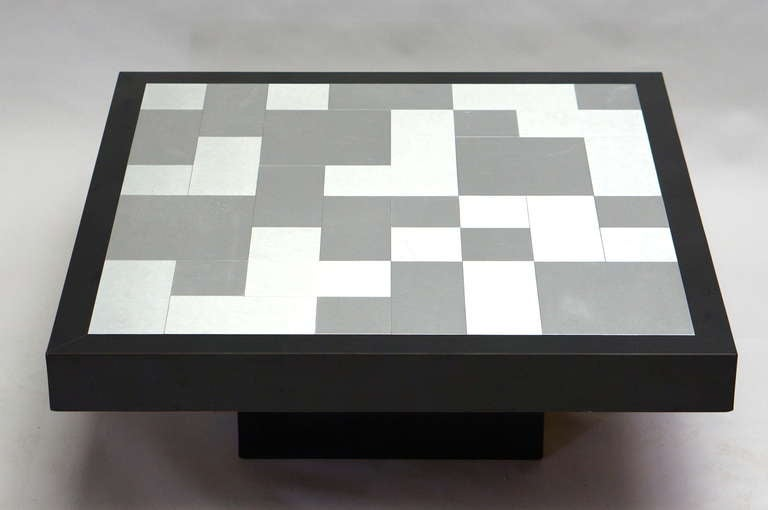 French Inox Coffee Table, circa 1970 For Sale
