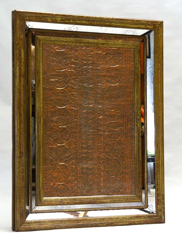 French Large Copper Mirror For Sale