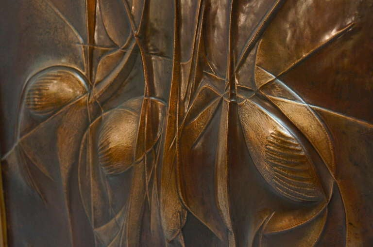 Copper Panel Artwork by Pemba In Excellent Condition For Sale In Antwerp, BE