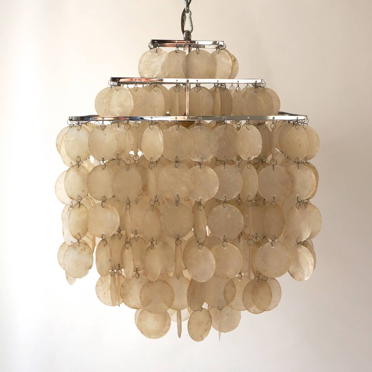 capiz shell chandelier by verner panton 4 - Capiz Shell Chandelier