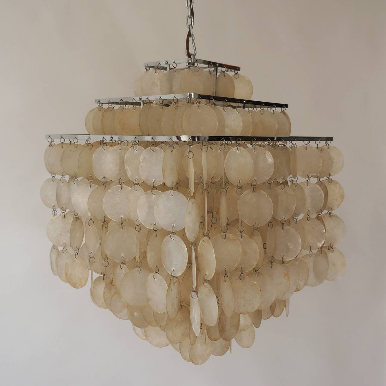 capiz shell chandelier by verner panton 3 - Capiz Shell Chandelier