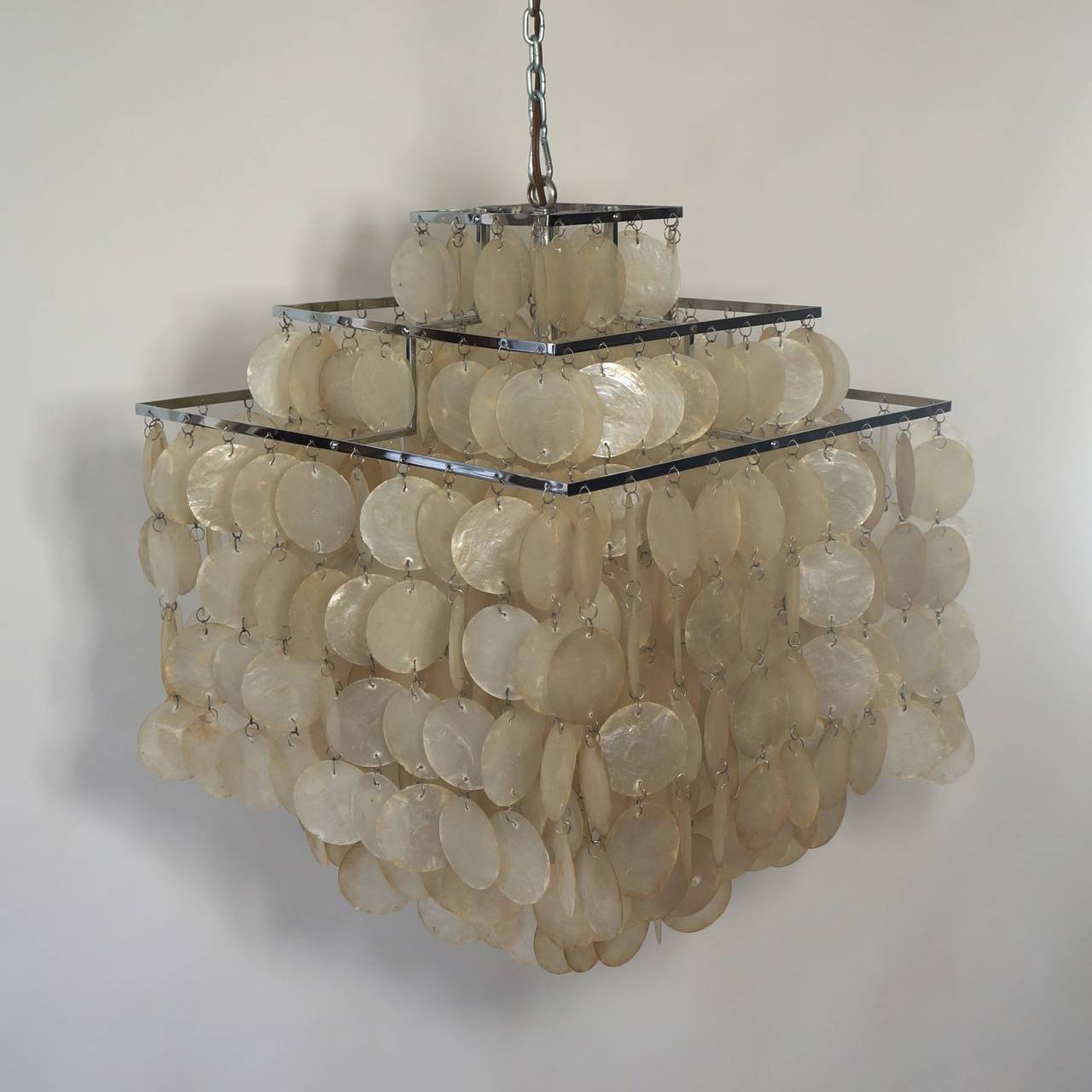 capiz shell chandelier by verner panton 10 - Capiz Shell Chandelier
