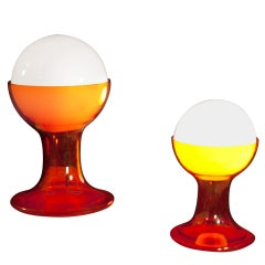 Pair of Italian Table Lamps Designed by Carlo Nason for Mazzega