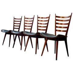 Set of Four Mid-Century Italian Dining Chairs
