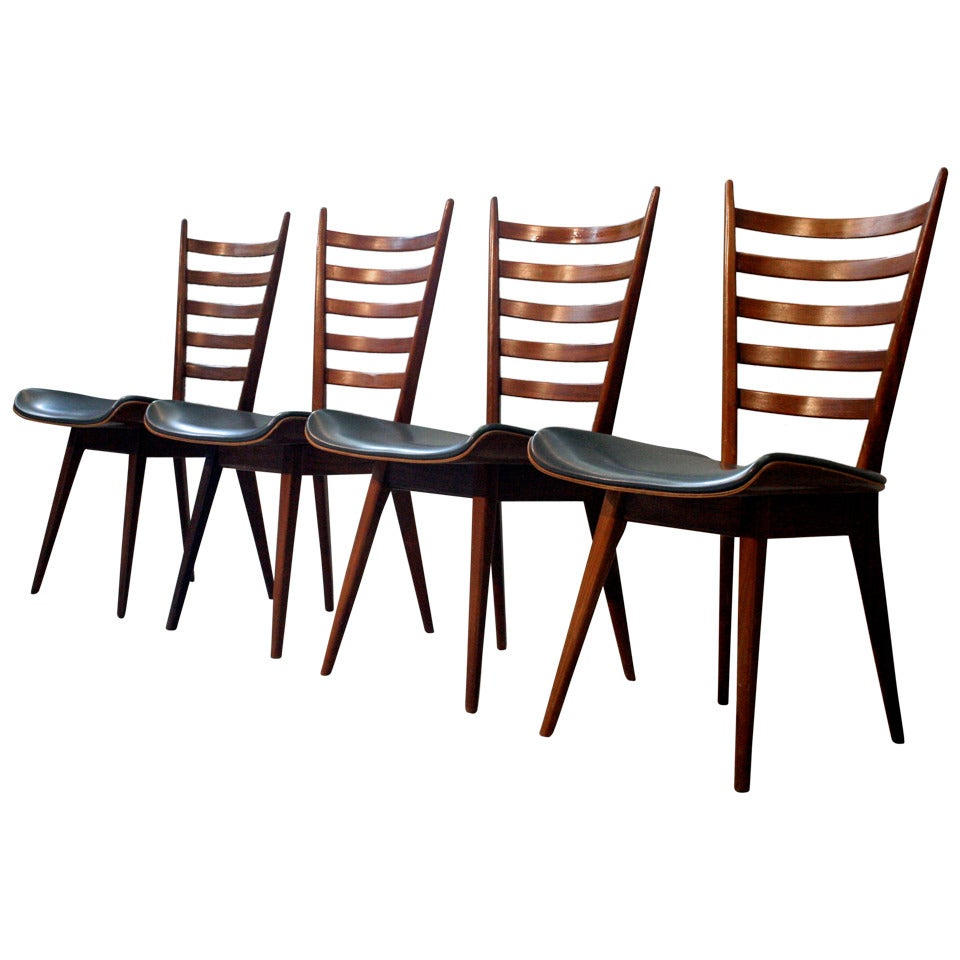 Set of Four Mid-Century Dining Chairs