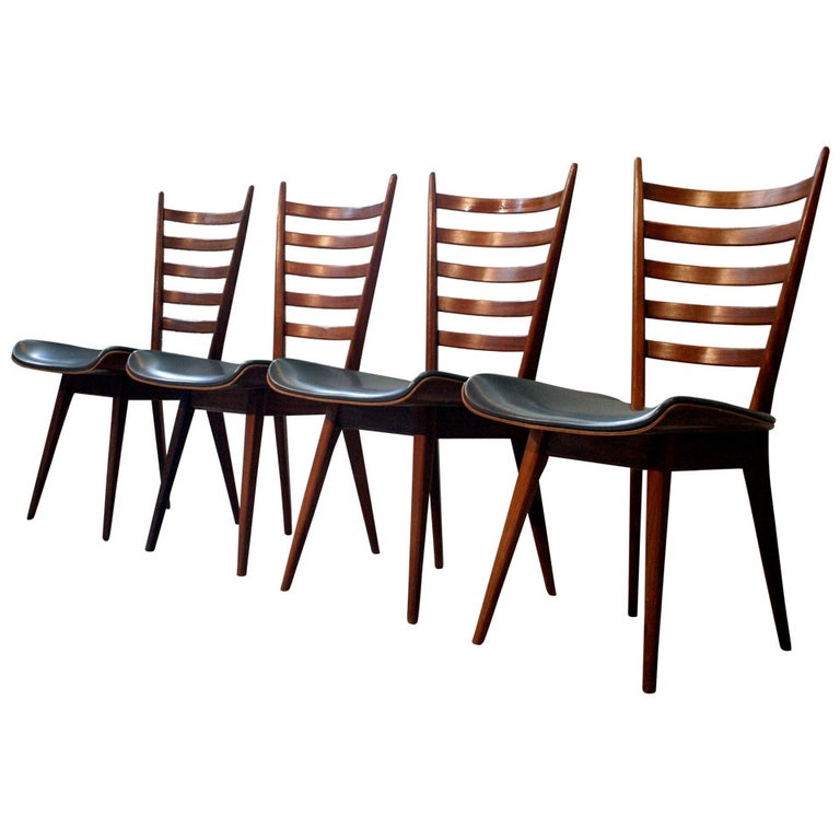 Set of Four Mid-Century Dining Chairs For Sale