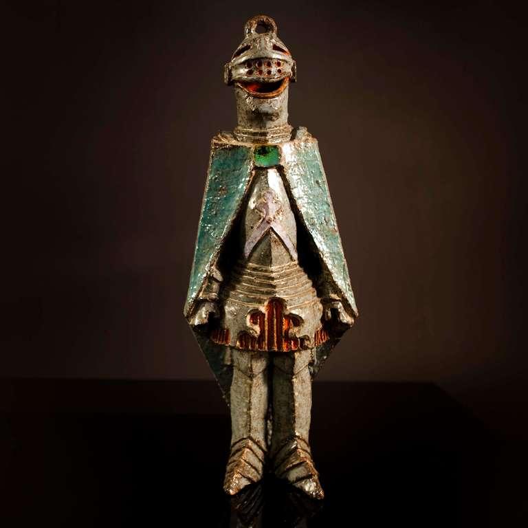 Italian ceramic statue.