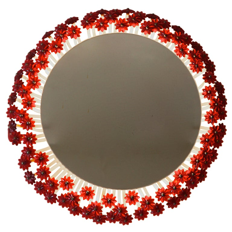 Two Illuminated Mirrors, Vienna, 1955 For Sale
