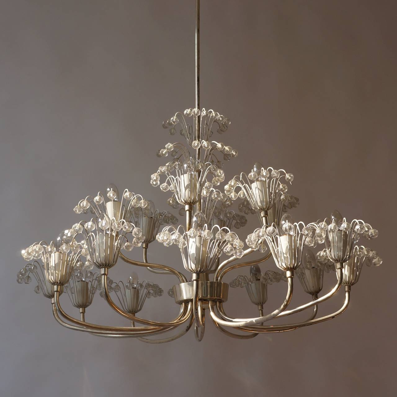 Mid-Century Modern Large Mid-Century Emil Stejnar Chandelier For Sale