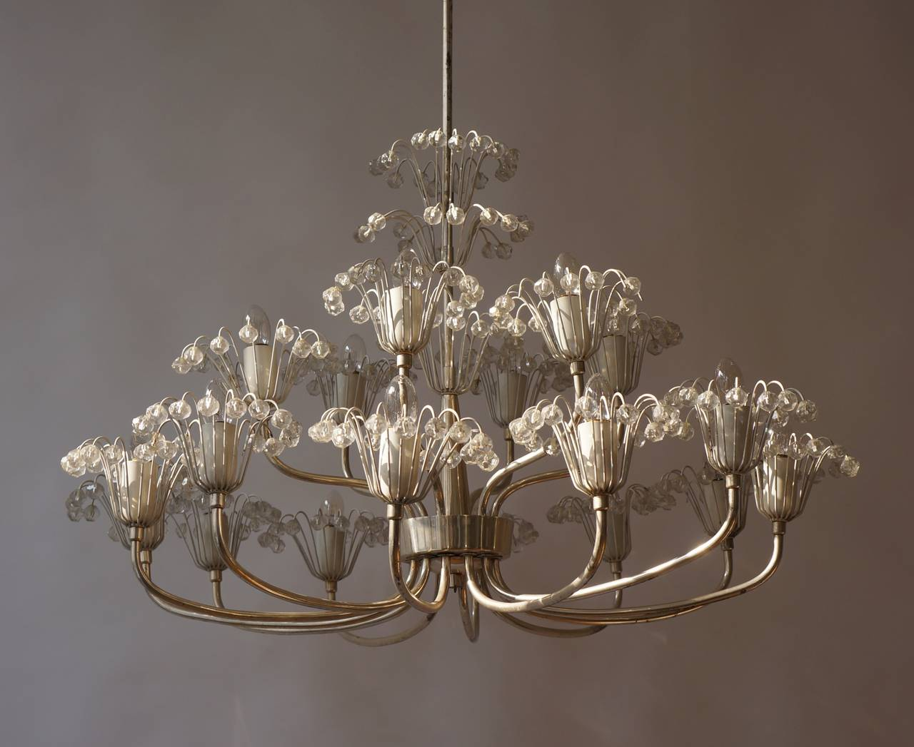Large Mid-Century Emil Stejnar Chandelier In Good Condition For Sale In Antwerp, BE