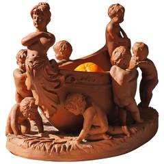 Terracotta Cherub Bowl