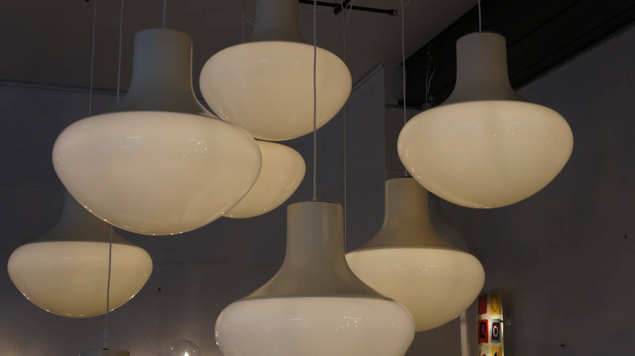 One of Three Mushroom Ceiling Lights In Good Condition For Sale In Antwerp, BE
