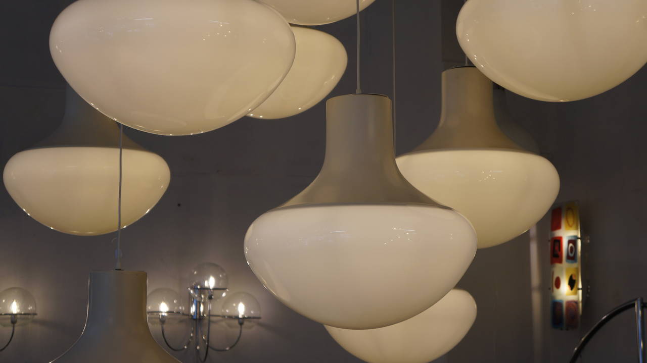 One of Three Mushroom Ceiling Lights For Sale 1