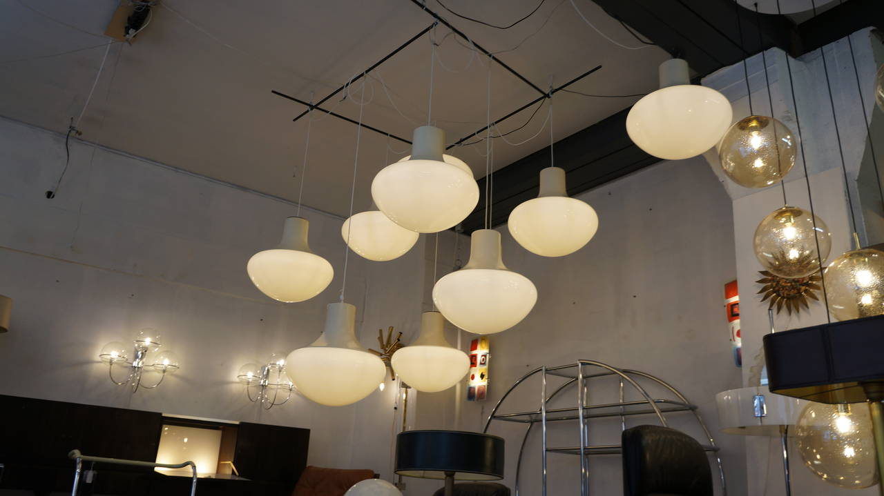 Set of Three Mushroom Ceiling Lights For Sale 2