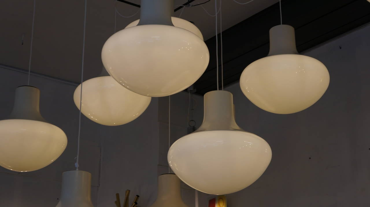 One of Three Mushroom Ceiling Lights For Sale 3