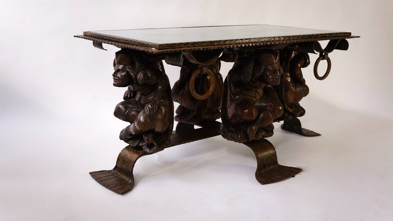 Unique Mid Century Modern Rustic Metal Coffee Table For Sale At 1stdibs