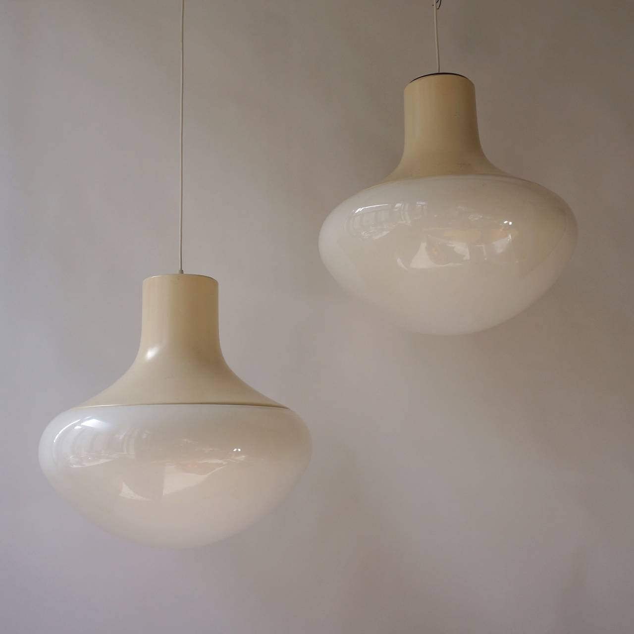 20th Century One of Three Mushroom Ceiling Lights For Sale