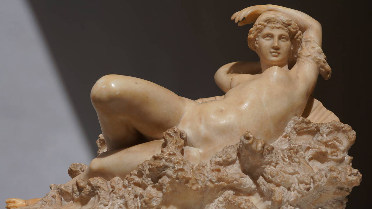 Pietro Bazzanti (1828-1895): The birth of Venus from the waves of the sea.