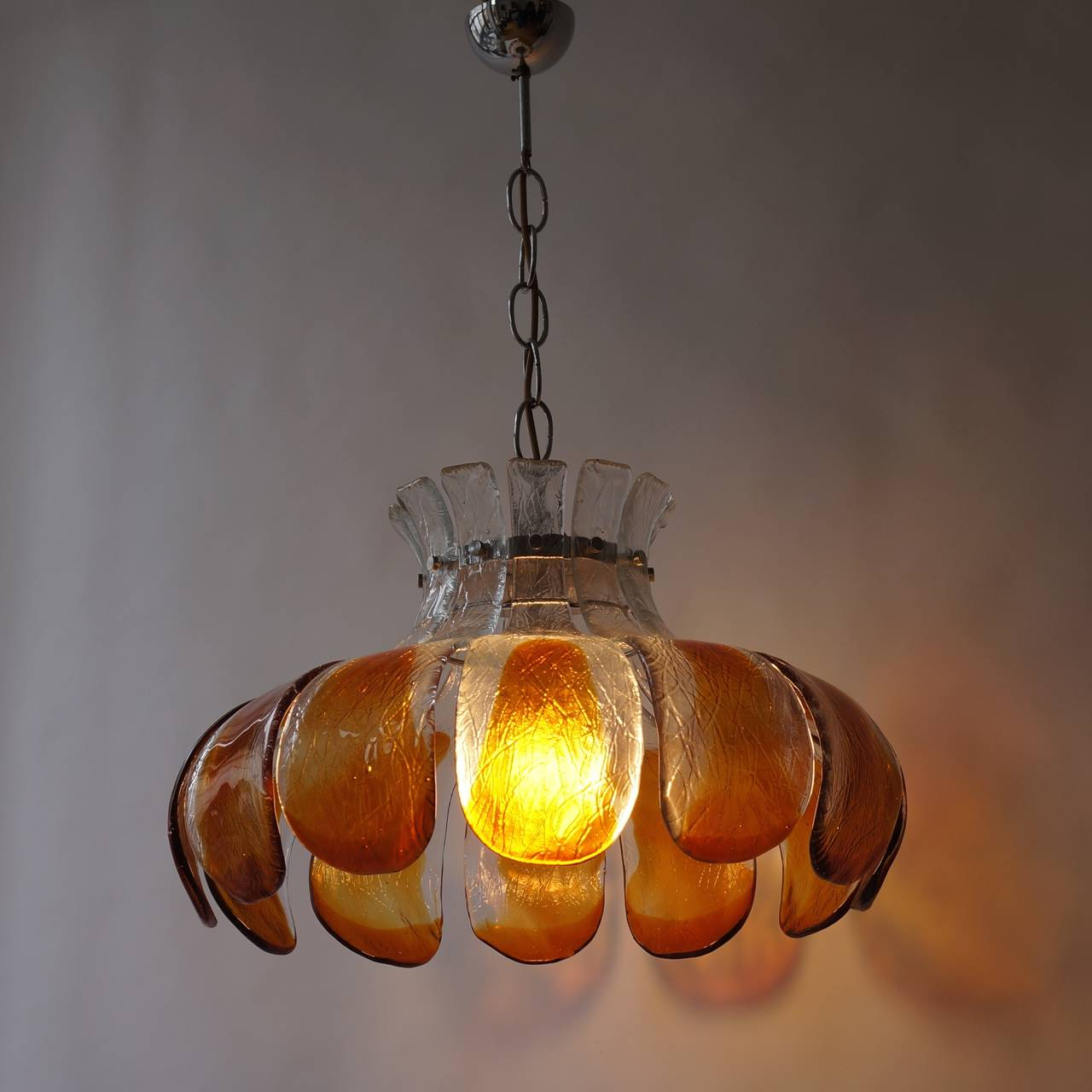 20th Century Murano Glass Chandelier For Sale