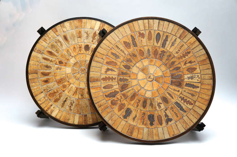 French Two Coffee Tables by Roger Capron, circa 1955 For Sale