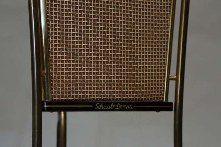 Metal Walnut Schaub Lorenz End Table Speakers For Sale