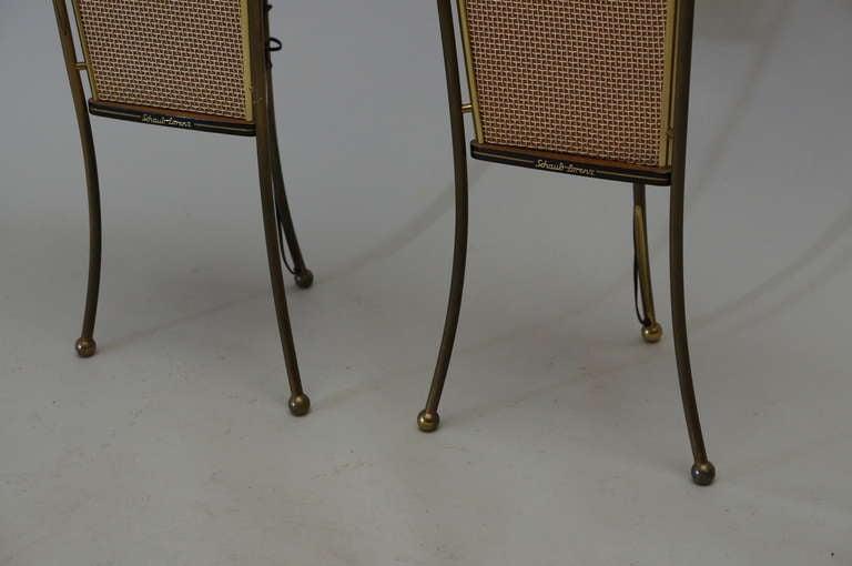 Walnut Schaub Lorenz End Table Speakers For Sale 1