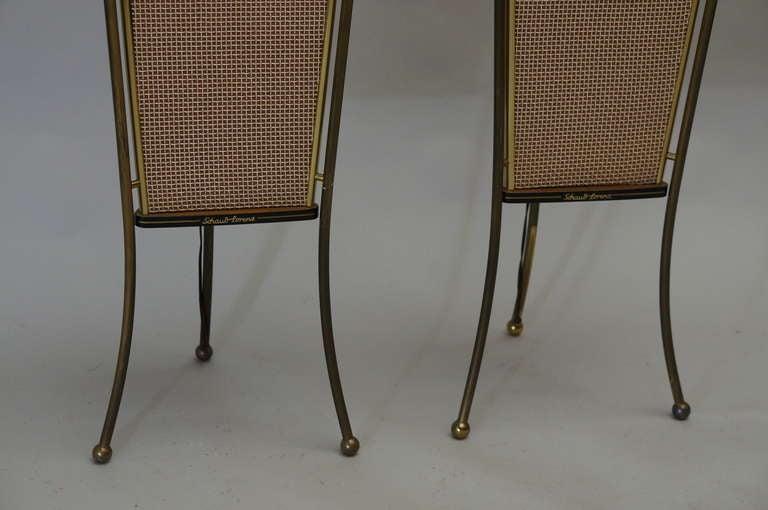 Walnut Schaub Lorenz End Table Speakers For Sale 2