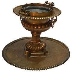 Hand-Hammered Copper Baptismal Font