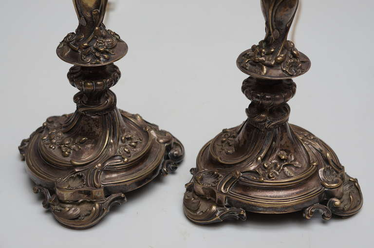 Pair of Art Nouveau Table Lamps In Good Condition For Sale In Antwerp, BE