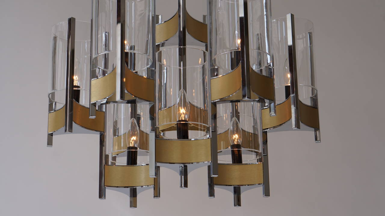 Set of Four Sculptural Sciolari Chandeliers For Sale 2