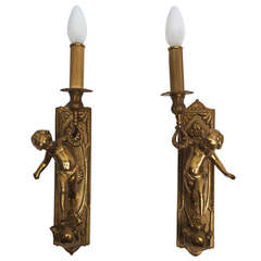 Pair of Italian Brass Sconces