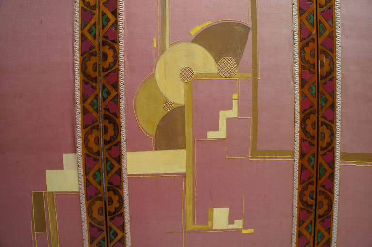 Art Deco Folding Screen In Good Condition For Sale In Antwerp, BE