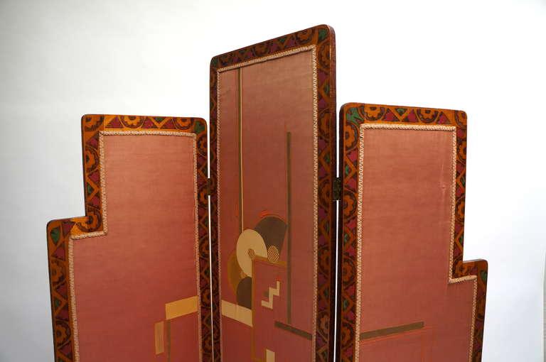 Art Nouveau Art Deco Folding Screen For Sale