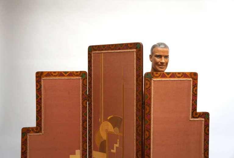 Art Deco Folding Screen For Sale 3