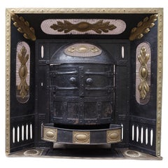 Iron, Cast Iron and Brass Build-In Belle Époque Coal Burner