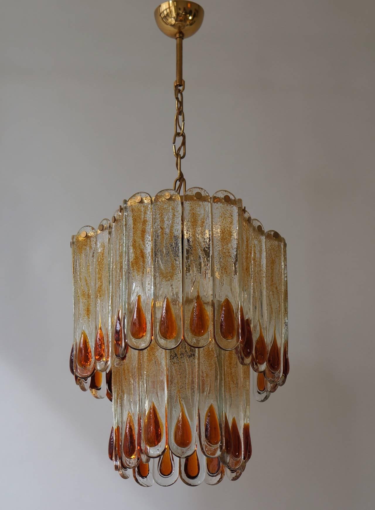 Italian Murano Chandelier For Sale