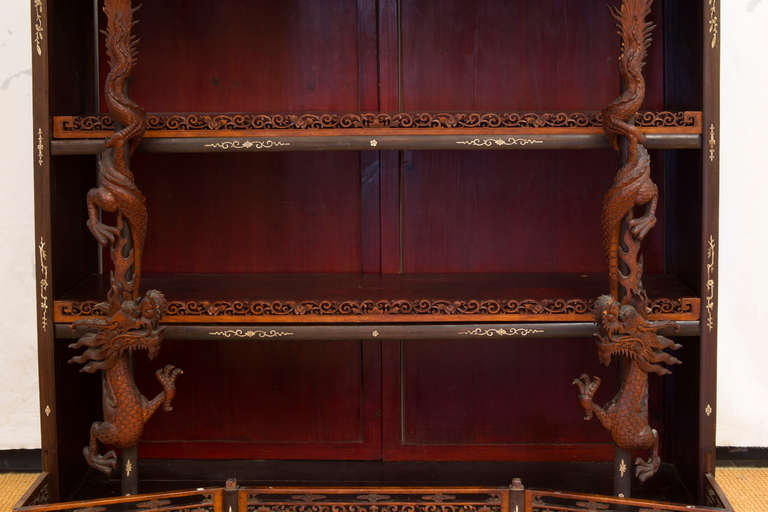 Hardwood Rare and Beautiful Architectural Pagode Display Cabinet, China For Sale