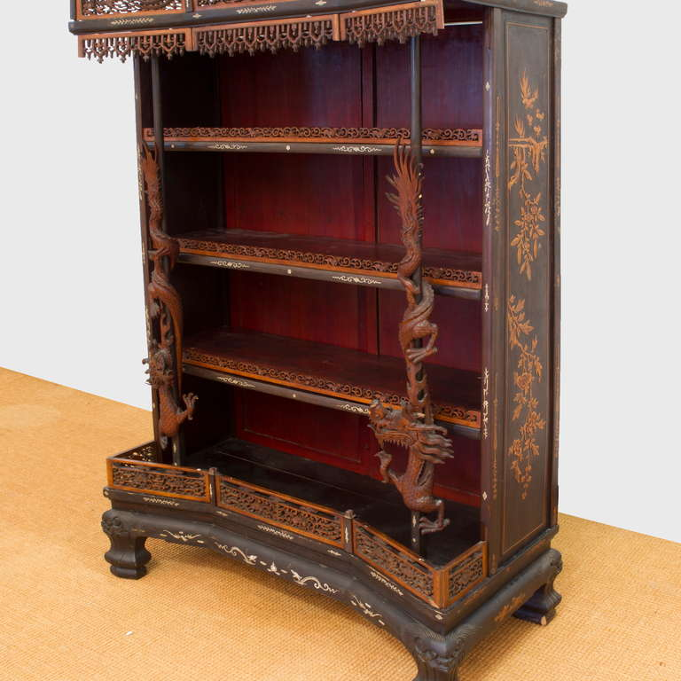 19th Century Rare and Beautiful Architectural Pagode Display Cabinet, China For Sale