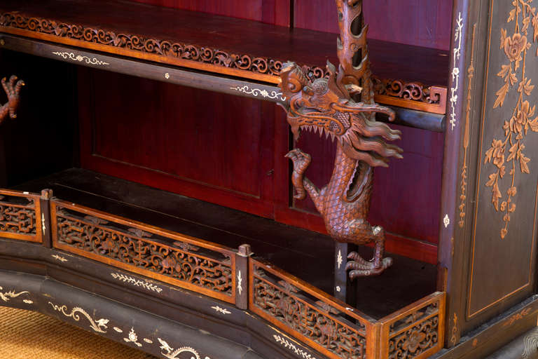 Rare and Beautiful Architectural Pagode Display Cabinet, China For Sale 1