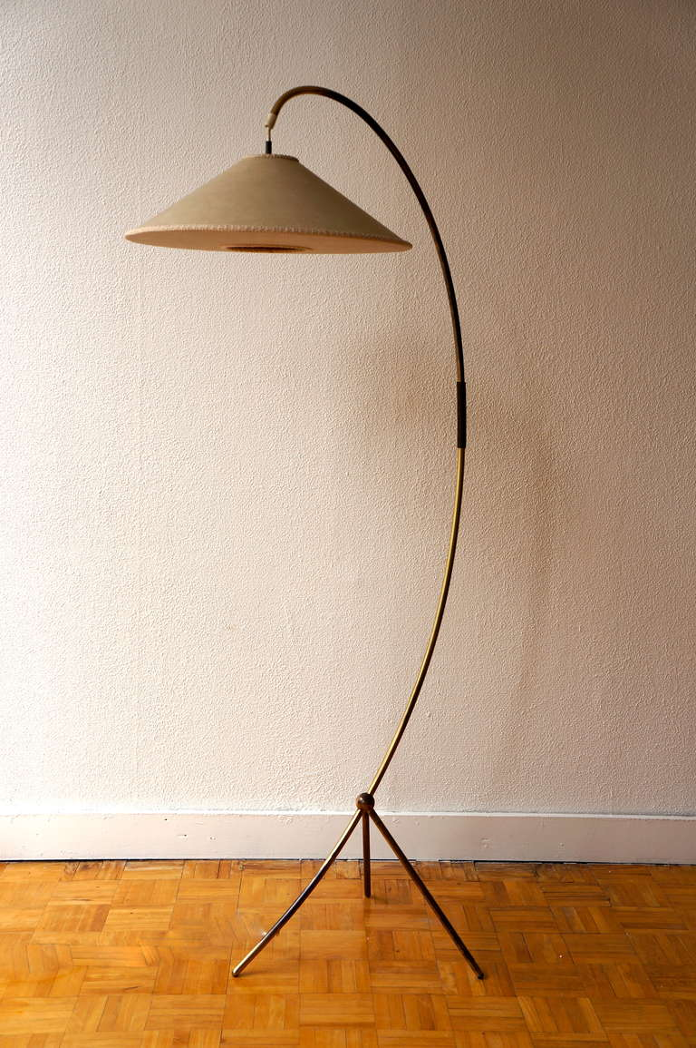 1950s Standing Lamp In Brass At 1stdibs