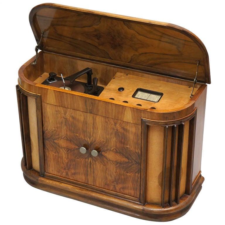 Vintage 1950s Garrard Rc60 D16 Radiogram Cabinet At 1stdibs