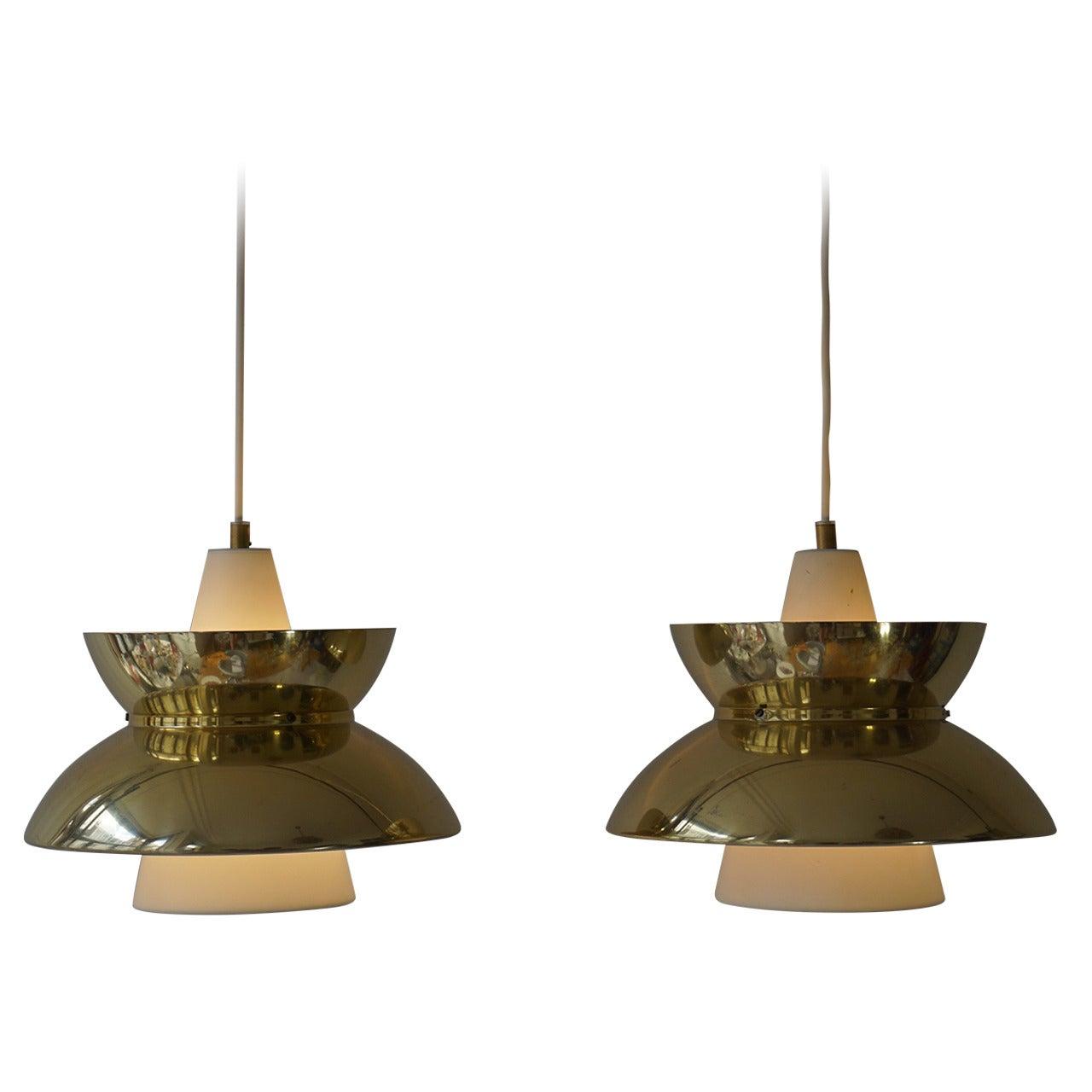 Set of Five Midcentury Pendant Lights by Jørn Utzon