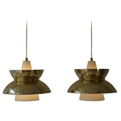 Set of Five Midcentury Pendant Lights by Jørn Utzon