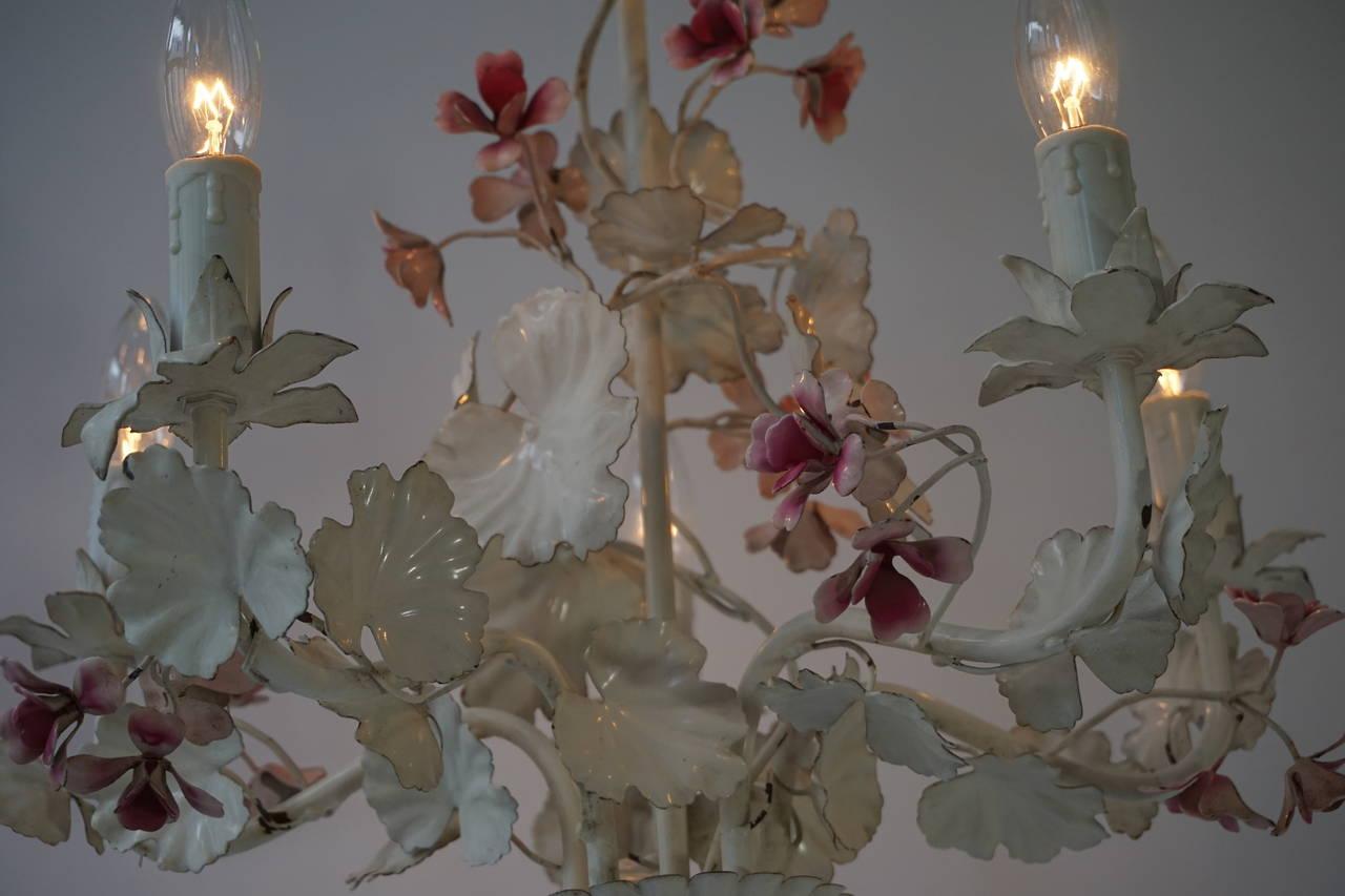 Italian Flower Chandelier For Sale at 1stdibs