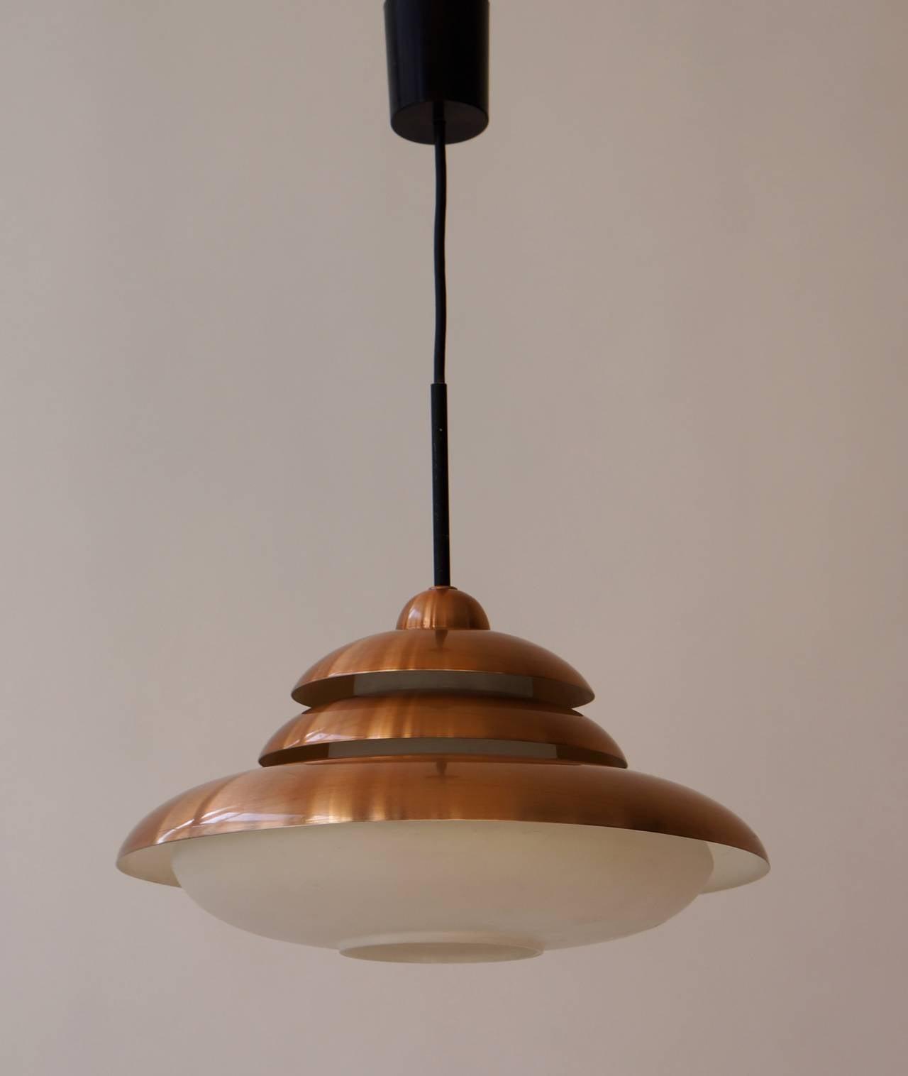 Doria Opaline and Copper Pendant Light 5