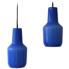 Pair of Venini Massimo Vignelli Pendant Lamps, 1960