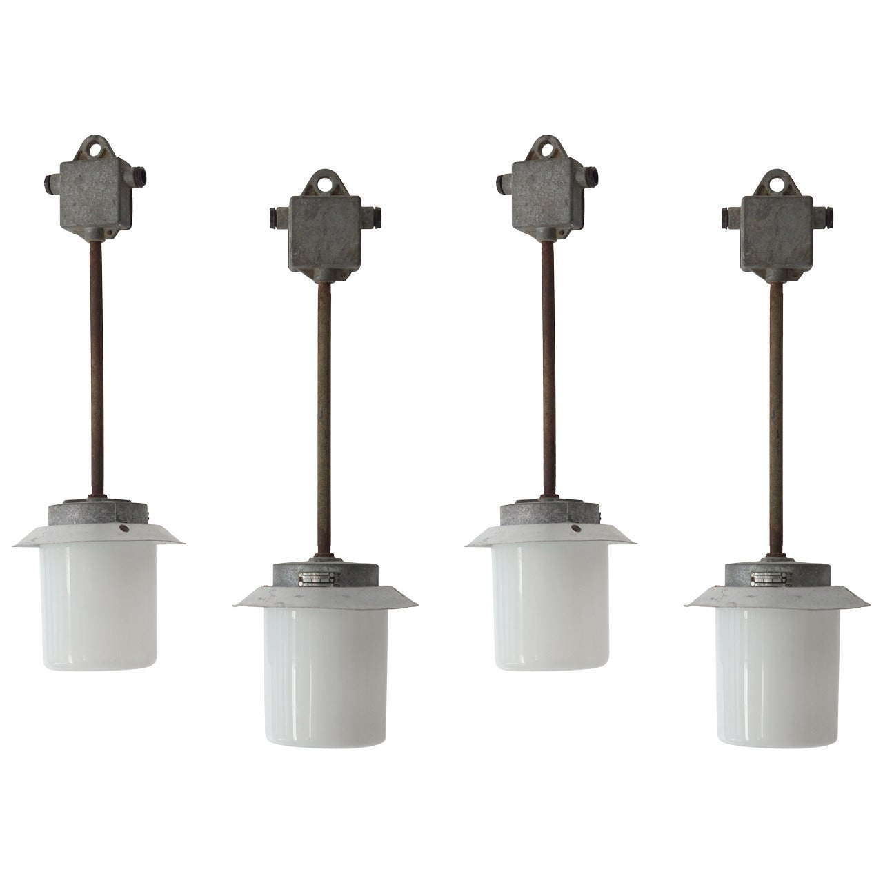 Set of Four Industrial Lights