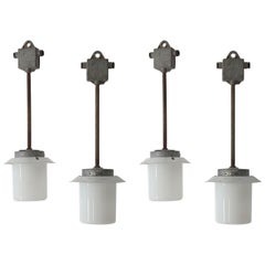 Set of Four Industrial Lights