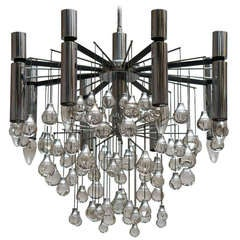 Mid-Century Chrome Chandelier by Sciolari